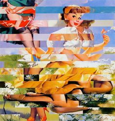 Pin up collage by Wayne Bryan.