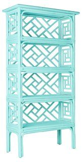 Chinese Chippendale  Étagère, Sea Glass