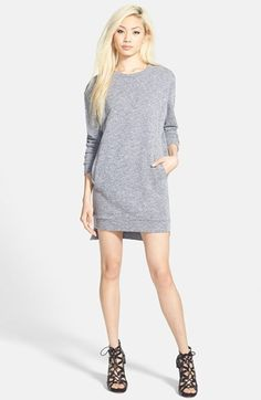GLAMOROUS Sweatshirt Tunic Dress available at #Nordstrom