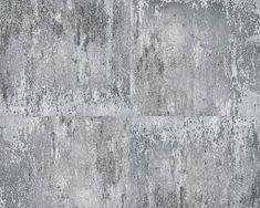 A.S. Création Vliestapete 361183: Tapete, Tapeten, Grau, Metallics,  Schwarz, Silber, Taupe, Bildmotiv, Deko / Motiv, Modern, Bad, Büro, Flur,  Küche, ...