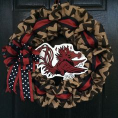 University of South Carolina Gamecocks Burlap Wreath