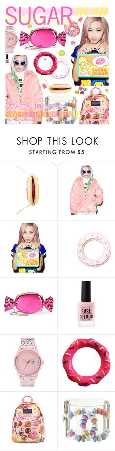 """FASHION TRENDS: SWEET TASTY STYLE"" by cutandpaste ❤ liked on Polyvore featuring Betsey Johnson, Joyrich, Vandor, Kate Spade, Harajuku Lovers and JanSport"