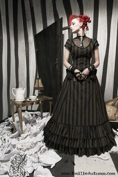 Emilie Autumn in a very Tim Burton like room