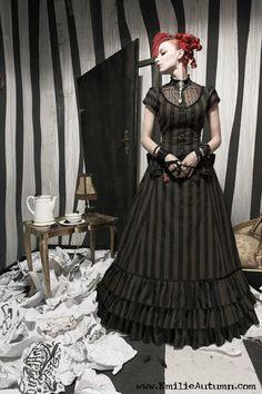 Emilie Autumn in a very Tim Burton like room
