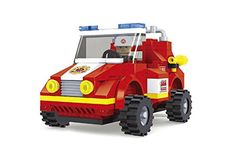 City Fire Chief Car Fire Brigade 133pc Set Educational Building Blocks Set Compatible To Lego Parts - Best Gift For Boys and Girls * See this great product.