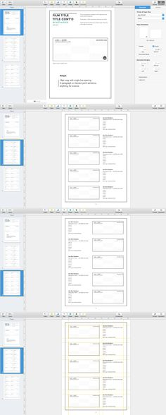 InDesign Japanese Anime Storyboard Template 1.85:1 Aspect Ratio on ...