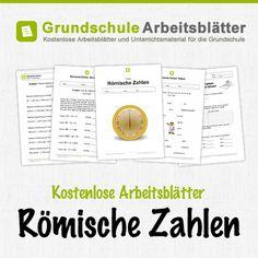 Kostenlose Arbeitsblätter und Unterrichtsmaterial zum Thema Römische Zahlen im Mathe-Unterricht in der Grundschule.