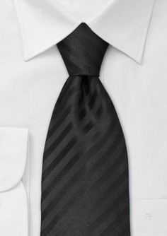 Formal Black Necktie for your Groom and Groomsmen.