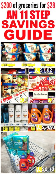 These 6 of the Best Krazy Coupon Lady posts Hacks and Guides are SO GOOD! I'm so glad I found these AMAZING tips! It'll help me save a TON of money at the store! Definitely pinning for later! Extreme Couponing, Couponing 101, Start Couponing, Save Money On Groceries, Ways To Save Money, Groceries Budget, Healthy Groceries, Budget Meals, Saving Ideas