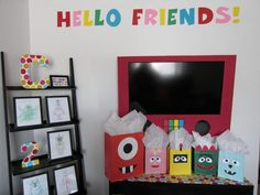 Yo Gabba Gabba birthday party decorations:: this would be perfect for my little brothers: Collin, Gavin, and Wyatt!
