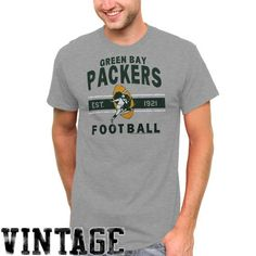 Green Bay Packers Vintage Team Arch T-Shirt - Gray     size XL or XXL