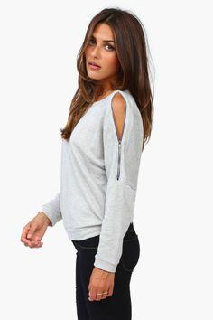 Sweatshirt w/ Zipper sleeve