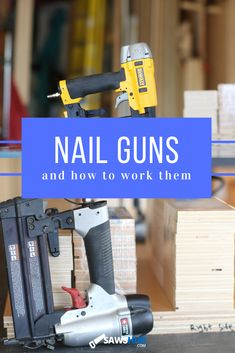 Ever wondered how a nail gun actually works? Read about the 3 different types of nail guns and the primary actions nail guns perform. #sawshub #process #build #tools Woodworking Projects Diy, Teds Woodworking, Diy Projects, Types Of Fire, Different Types Of Nails, Cheap Tools, Nail Gun, Great Gifts For Men, Wood Plans