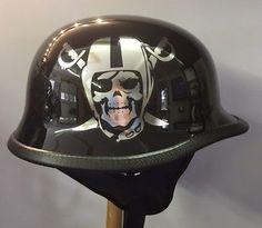 Custom Oakland Raiders Football TCMT Motorcycle Helmet Size XL NEW!!