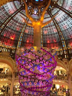 Such a beauty place #love #paris #mustvisitplace #lafayettegaleries #christmasspirit