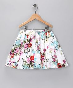 White Floral Skirt - a bit longer would be nice