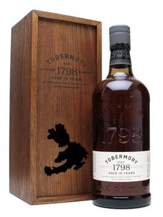 Beautifully-presented bottle of Tobermory. The whisky is matured in Gonzalez Byass Oloroso sherry casks and the casks mature on the mainland before travelling back to Mull for the final year before...
