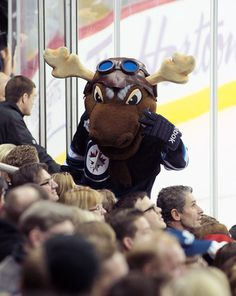 NHL Power Rankings: Ranking the Team Mascots from Worst to First Mick E. Jets Hockey, Hockey Logos, Sports Team Logos, Ice Hockey, Sports Teams, Nfl Football Teams, Hockey Teams, Helmet Logo, Team Mascots