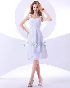 Herz-Ausschnitt natürliche Taile schlichtes Abschlusskleid/ Brautjungfernkleid mit Plissierungen