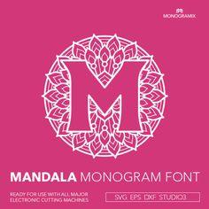Mandala Monogram Alphabet A to Z Personal Monogram Letters