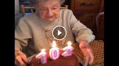 102esimo compleanno, soffia le candeline.. e perde la dentiera!?!?! Birthday Candles
