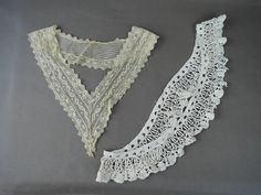 Vintage Lace Neckline & Dress Trim, Antique Edwardian 1900s