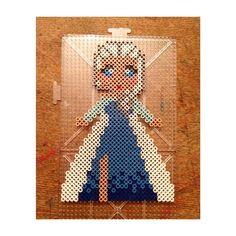 Elsa Frozen perler beads by eskoch29