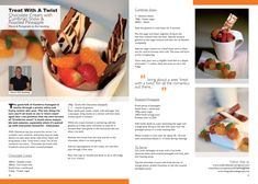 Workington Guide, Issue 18.indd Roasted Pineapple, Chocolate Cream, Catering, Waffles, Strawberry, Treats, Fruit, Breakfast, Recipes