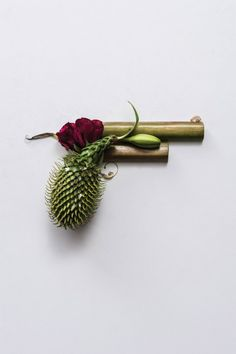 "Australian designer Sonia Rentsch used dried plants to create this stunning series titled ""Harm Less""…"