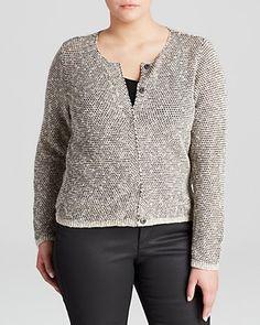 Eileen Fisher Plus Open Knit Jacket   Bloomingdale's