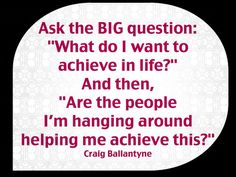 Adjust your life according to your answers and EVERYTHING will change for the better!  #quotes #quote #craigballantyne #ballantyne #question #achieve #life #success #people #friends #relationships #goals #dreams #inspiration