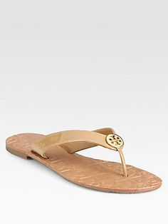 c0aa548f8a71b Tory Burch - Thora Patent Leather Flip Flops