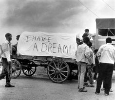 A mule train leaves for Washington, during the Poor People's March, May 1968.    photograph by Ernest C. Withers.