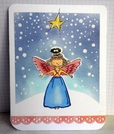 Christmas Card 03 - Scrapbook.com - Include inking and embossing for a snowy nighttime effect!