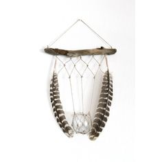 Boho Chic Macrame Driftwood Hanger -- perfect for airplants or candles!