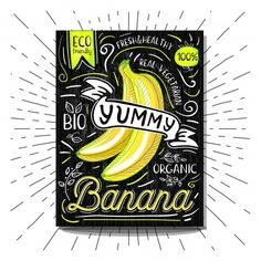 Drink Labels, Food Labels, Banana Funny, Food Stickers, Chalkboard, Royalty Free Stock Photos, Vegetables, Fruit, Freepik Vector