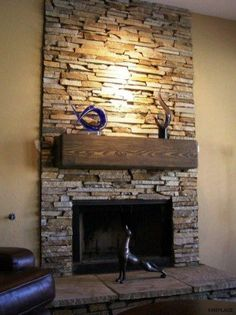19 best stone veneer fireplace remodels before and after images rh pinterest com