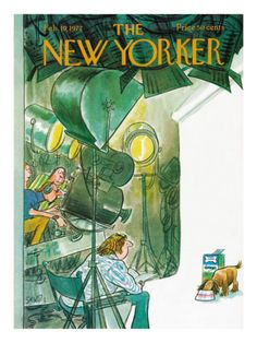 The New Yorker Cover - February 19, 1972 by Charles Saxon
