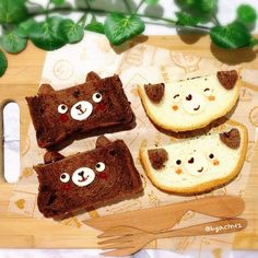 Brown Bears and  Puppies sandwiches