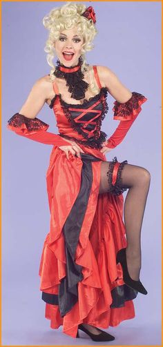 western show girl damenkost m rot weiss schwarz. Black Bedroom Furniture Sets. Home Design Ideas