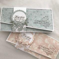 "115 likerklikk, 2 kommentarer – HildeRøisehagen (@hilderoisehagen) på Instagram: ""Konvoluttkort med magebelter til jente konfirmanter med stempler fra @stempelglede . #madebyme…"" Money Envelopes, Wedding Envelopes, Card Envelopes, Card Wallet, Scrapbook Box, Wedding Scrapbook, Scrapbooking, Gift Envelope, Envelope Design"