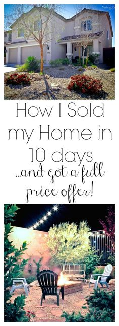 Noting Grace: How I Sold My Home 10 days ...and got a full price offer!   Love these tips - I'm definitely trying number 6!