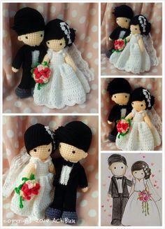 AChiBuu Handmade: Custom order wedding amigurumi