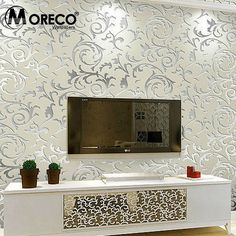 Cheap wallpaper silver, Buy Quality wallpaper romantic directly from China wallpaper cork Suppliers:                       Brand:MORECO Name:Fashion European Style 3D Wallpaper / wall paper rolls / TV Background