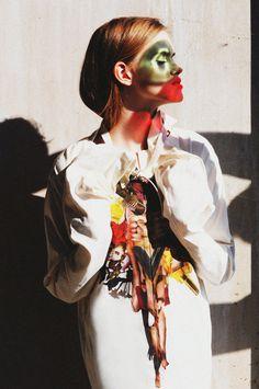 designer: LARA QUINT photographer: Anna Tea model: Mira Marchuk print-artist: Ashkan Honarvar   #laraquint #ashkanhonarvar #collage #fashioneditorial #ukrainianfashion #hannibal #art #inspiration  #flowers #straitjacket