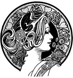 nouveau Tattoo | love the way that women are depicted in this style.