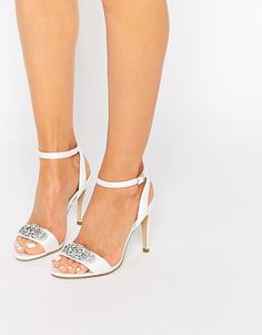 ef4d165352f2 Image 1 of New Look Embellished Barely There Shoes Embellished Sandals,  Going Out Outfits,