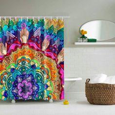 "CHERRY HEART salle de bain Tapis Imperméable Tissu De Polyester Rideau de douche 72/"" 022"