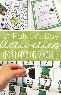 "St. Patrick's Day Activities | This blog post is full of great ideas to use in your classroom or homeschool for March. Click through to see a color by number activity pack, pinning pages, and a FREE ""Where's the Gold?"" number recognition game. Plus you can check out the March centers and morning work tubs. Great to use all month long. Click through to see how these downloads and the freebie will work with your preschool or Kindergarten students today!"