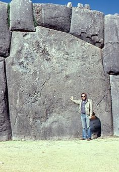 Inca Sacsayhuaman, Cusco, Peru - these stones are estimated to weigh 1000 metric tons: conventional archeology says they moved them 14 mi from the quarry site - before the wheel
